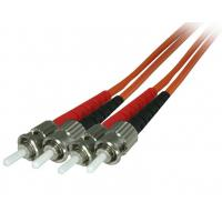 Wholesale 2.0mm Orange Fibre Patch Cables ST Duplex OM2 Multimode PVC Jacketed from china suppliers