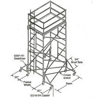 Wholesale Adjustable Heavy - Duty / Light - Duty Shoring Scaffolding Stackable Fast Lock 4' * 6' from china suppliers