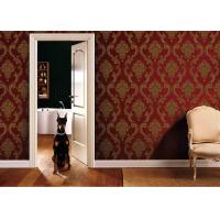 Wholesale 0.53*10M Living Room PVC Removable Wall Coverings With Red And Gold Color , ISO SGS from china suppliers