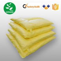 Quality ISO 9000:2008 100% PP yellow industrial chemical haz-chem Spill Control Absorbent pillow for sale