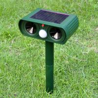 Quality Solar Powered Animal Repellent Ultrasonic Garden Dog Repeller Animal Chaser for sale