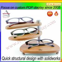 Wholesale Hot sale POP customized wood sunglasses display case from china suppliers
