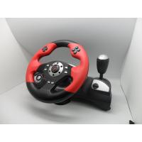 Quality video game steerng wheel with foot pedal for PC PC360 PS2 PS3  with dual vibration for sale