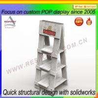 Wholesale Rustic wood display Rustic old looking Floor wooden Foldable Display Stand from china suppliers