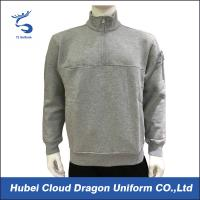 Wholesale Mens Fleece Job Security Guard T Shirts Warm Heather Grey Cotton from china suppliers