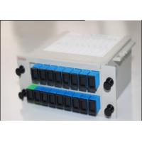 Quality 1x16  LGX Box Cassette Inserting PLC Splitter ,  16 Ports Fiber Optical PLC Splitter for sale
