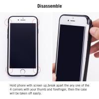 Quality 3-in-1 Apple Cell Phone Cases Coated Non Slip Matte Surface Electroplate Frame for sale