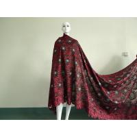 China Wine Red African Lace Fabric Soft For Women Wedding Dress on sale