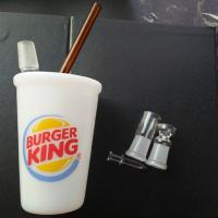 Wholesale 18mm Male Joint Big Size  BURGER KING Starbuck Cup Glass Oil Rig Dab Rig Water Pipe Bong from china suppliers