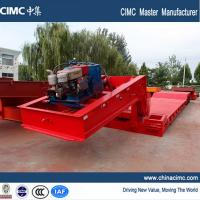 Wholesale extendable 4 axles gooseneck detachable lowboy trailer 80 tons from china suppliers