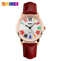 Wholesale Red Genuine Leather Strap Womens Quartz Watches Urban Trend Waterproof from china suppliers