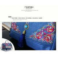 Quality Large capacity Embroidery Jean women handbag messenger bag lady outside good choice factory sale for sale