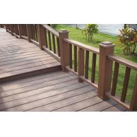 Wholesale Anti-UV Durable WPC Garden Fence , Brown Wood Plastic Composite Railing from china suppliers