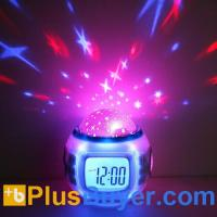 Wholesale Starry Sky Projection Calendar Thermometer Alarm Music Clock from china suppliers