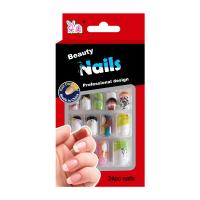 Wholesale Nail Art Spring summer Fake Nails For little girls / Pre Glued Fake Nails from china suppliers