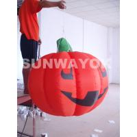 Durable Bright Red Holiday blow up halloween decorations EN71 Approved