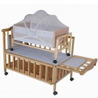 Wholesale Custom Newborn Baby Wooden Baby Cot Bedding , Baby Sleeping Cot from china suppliers