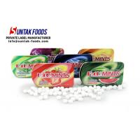 Wholesale Green Low Fat Healthy Sour fruit Candy , Calorie Free Candy Slide Tin Box from china suppliers