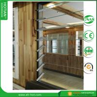 Wholesale Solid wood window blind,wooden window shutters with 5mm tempred frosted glass from china suppliers