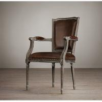 Wholesale Square Nailhead Back Cream Leather Dining Room Chairs With Oak Solid Wood from china suppliers