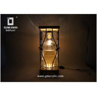 Wholesale Adjustable Brightness Bottle Glorifier Natural Bamboo Metal Product Glorifier from china suppliers