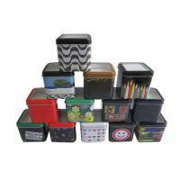 Wholesale PVC Window Package Metal Tin Box With Lids , Metal Personalized Gift Boxes from china suppliers
