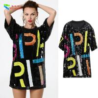 Wholesale Oversize Womens Glitter Clothes / Women Sequin Party Dresses Hip Pop Style from china suppliers