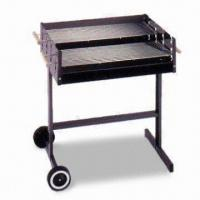 Quality Steel Wagon Barbecue Grill with Two Chrome-plated Cooking Grills for sale