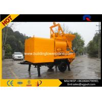 Quality Concrete Mixer Pump Trailer Double - Shaft Mixer 300L Oil Tank For Highways / Bridges for sale