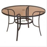 Wholesale Round Bronze Tinted Table Top Glass Withstands Abrupt Temperature from china suppliers