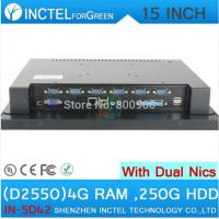 Wholesale POS touchscreen all in one computer 15 inch with Intel D2550 1.86Ghz CPU 1024*768 HDMI 2*RJ45 6*COM from china suppliers