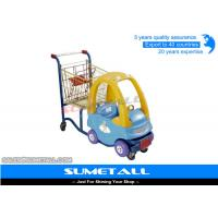 Wholesale Customized Funny Supermarket Shopping Trolley With Kids Play Plastic Cab from china suppliers