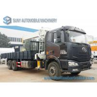 Wholesale 280 hp FAW J6 6 x 4 Crane Mounted Truck XCMG 10 T Straight Arm Crane from china suppliers