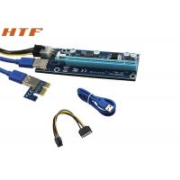 Wholesale New PCI-E PCI E Express 1X to 16X Riser Card and USB 3.0 Extender Cable with Power Supply from china suppliers