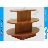Wholesale Custom Oval Shape 3 Step Wooden Store Displays Table for Gift Shops from china suppliers