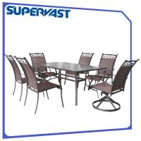 Wholesale Sling Patio Bistro Set Patio Furniture Dining Sets Dining Chair Swivel Chiar from china suppliers