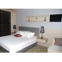 Wholesale Wooden Commercial Hotel Furniture , Hotel Room Furniture With Floating Side Table from china suppliers