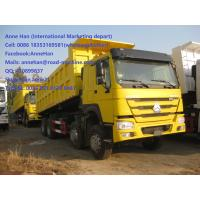 Wholesale 40T 371 HP 12 Wheels Yellow Heavy Duty Dump Truck low fuel consumption from china suppliers