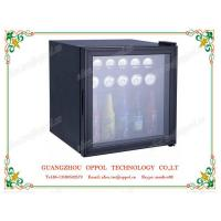 China OP-614 Low Temperature Single Glass Door Portable Mini Hotel Fridge on sale