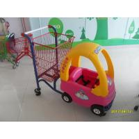Wholesale 95L Children / Kids Shopping Carts With Rear Basket And 4 Swivel Flat Caster SGS CE from china suppliers