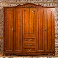 Wholesale 6 Feet Wardrobe 6 Door , Modern Solid Oak Wardrobe Ce Iso Certificated from china suppliers