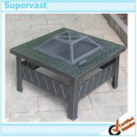 Wholesale Outdoor Patio Furniture Accessories Metal Square Patio Table Fire Pit from china suppliers
