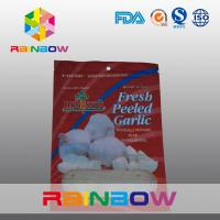 Wholesale Fresh Peeled Garlic Plastic Pouches Packaging / Mylar Zipper Bag from china suppliers