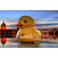 Wholesale 3m Height 0.9mm PVC tarpaulin Inflatable Water Toys Giant Inflatable Yellow Rubber Duck from china suppliers