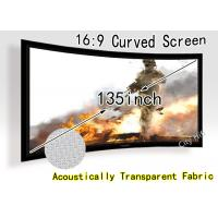 Wholesale High Resolution Curved Projection Screen / Acoustically Transparent Screen from china suppliers