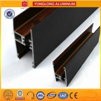 Wholesale Customized Hollow Wood Finish Aluminum Window Frame Extrusions from china suppliers