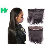 Wholesale Smooth Human Hair Closure 13*4 Lace Frontal Closure Straight Natural Black 8A from china suppliers