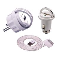 Wholesale White DC Universal USB Charger Kit for Mobile Phone , Digital Camera from china suppliers