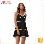 Deep V Ladies Long Maxi Dresses Wide Stripe Petite Maxi Dresses