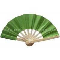 Wholesale Personalized Single Color Printed Bamboo Green Paper Fans For Decorating from china suppliers